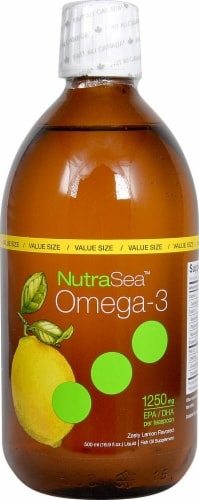 Ascenta  NutraSea™  Zesty Lemon Omega3 Liquid Supplement Perspective: front