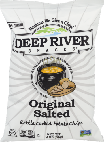 Deep River Snacks Original Salted Kettle Cooked Potato Chips Perspective: front