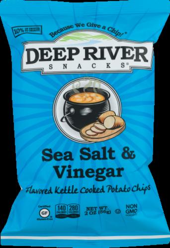 Deep River Snacks Sea Salt & Vinegar Kettle Cooked Potato Chips Perspective: front