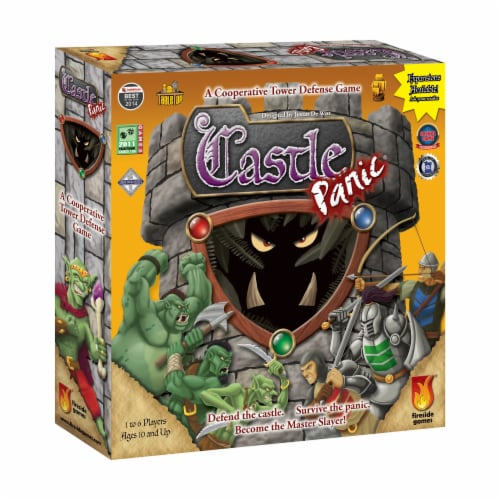 Fireside Games Castle Panic Board Game Perspective: front