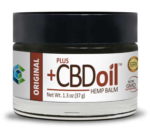 PlusCBD Oil Original Hemp Balm 50mg AVAILABILITY LIMITED TO PHARMACY HOURS Perspective: front