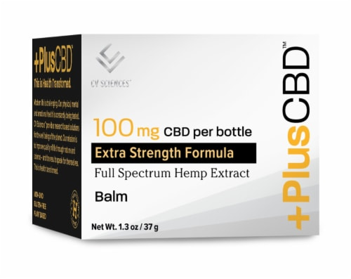 PlusCBD Oil Extra Strength Hemp Balm 100mg AVAILABILITY LIMITED TO PHARMACY HOURS Perspective: front