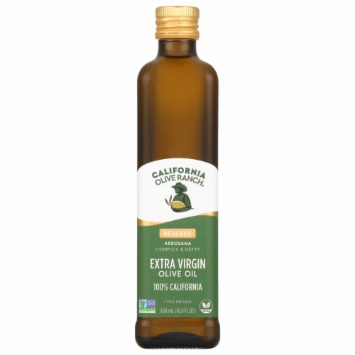 California Olive Ranch Arbosana Complex & Nutty Extra Virgin Olive Oil Perspective: front