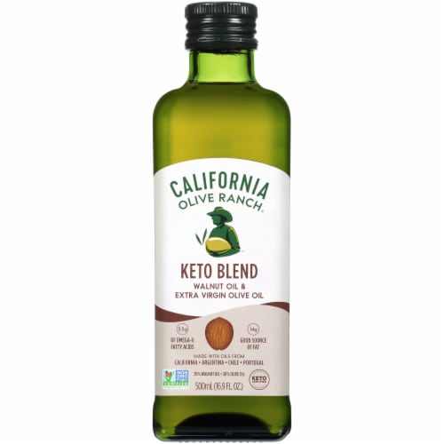 California Olive Ranch Keto Blend Walnut Oil & Extra Virgin Olive Perspective: front