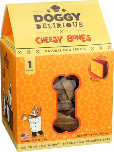 Doggy Delirious Cheesy Treats for Dogs Perspective: front