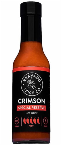 Bravado Spice Co.  Hot Sauce   Crimson Special Reserve Perspective: front