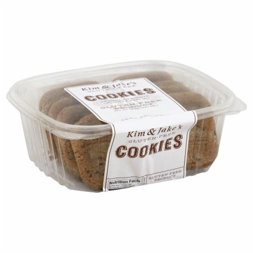 Kim & Jake's Gluten Free Chocolate Chip Cookies Perspective: front