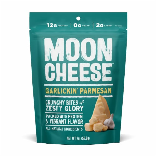 Moon Cheese Garlickin' Parmesan Bites Perspective: front