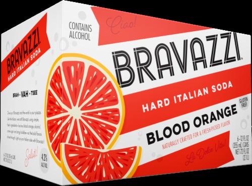 Bravazzi Blood Orange Hard Italian Soda Perspective: front