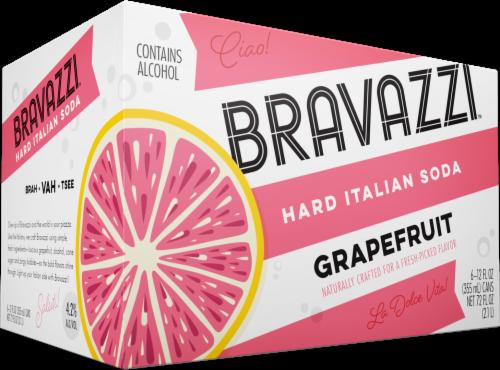 Bravazzi Grapefruit Hard Italian Soda Perspective: front