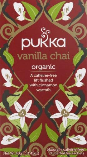 Pukka Vanilla Chai Herbal Tea Sachets Perspective: front