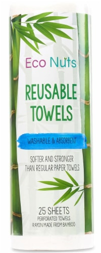 Eco Nuts Reusable Towels on a Roll Perspective: front