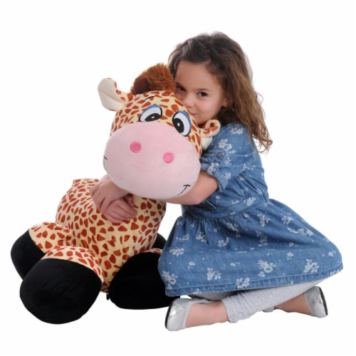 "iPlush 26"" Inflatable Giraffe Stuffed Animal Perspective: front"