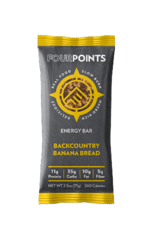 Fourpoints Backcountry Banana Bread Energy Bar Perspective: front