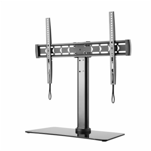 Suncraft TTL-6644TS Glass Table Top TV Stand - Black Perspective: front