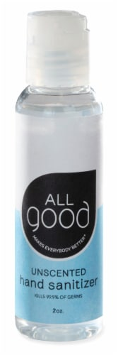All Good Unscented Hand Sanitizer Gel Perspective: front