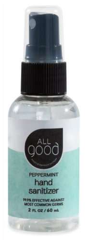All Good Peppermint Hand Sanitizer Spray Perspective: front