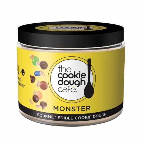 The Cookie Dough Cafe Monster Gourmet Edible Cookie Dough Perspective: front