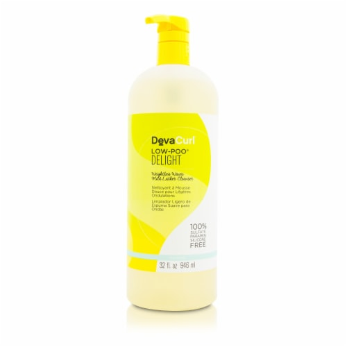 DevaCurl LowPoo Delight (Weightless Waves Mild Lather Cleanser  For Wavy Hair) 946ml/32oz Perspective: front