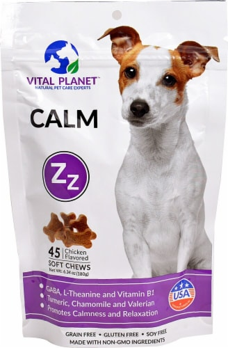 Vital Planet Calm Chicken Flavored Dog Soft Chews Perspective: front