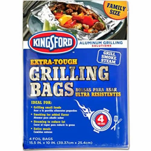 Kingsford Aluminum Grilling Bags - Case Of: 1; Each Pack Qty: 4; Total Items Qty: 4 Perspective: front