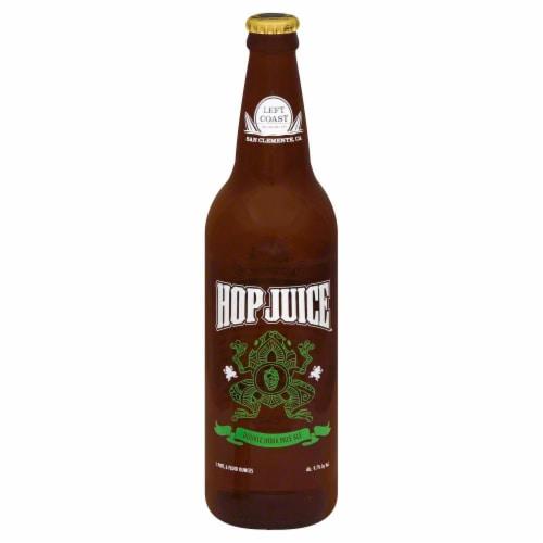 Left Coast Hop Juice Double IPA Perspective: front