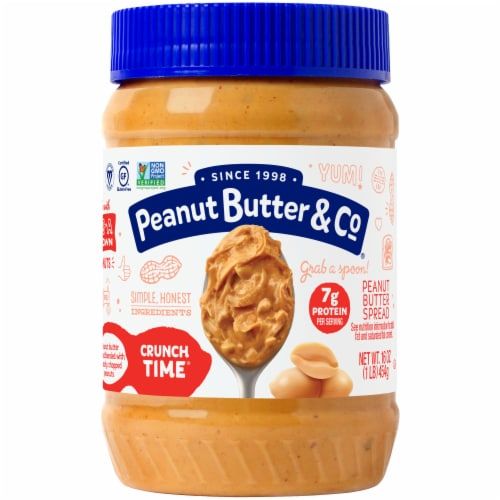 Peanut Butter & Co. Crunch Time Crunchy Peanut Butter Perspective: front