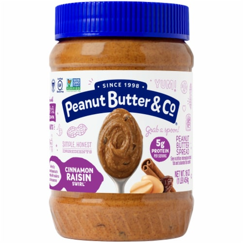 Peanut Butter & Co. Cinnamon Raisin Swirl Blended Peanut Butter Perspective: front