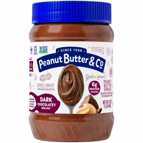 Peanut Butter & Co. Dark Chocolatey Dreams Peanut Butter Spread Perspective: front