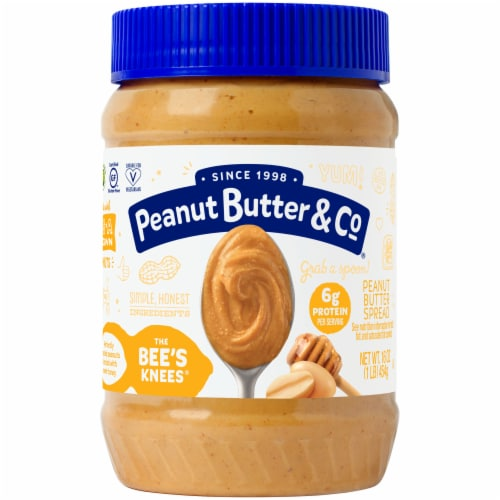 Peanut Butter & Co. The Bee's Knees Peanut Butter Spread Perspective: front