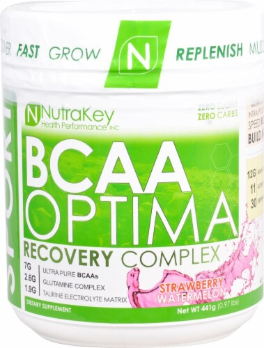 NutraKey  BCAA Optima   Strawberry Watermelon Perspective: front