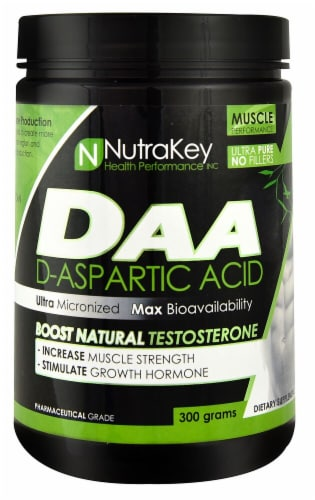 NutraKey  DAA D-Aspartic Acid Perspective: front