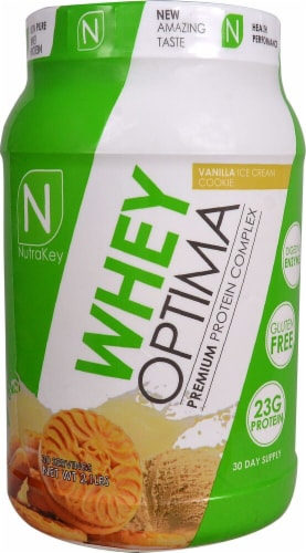 NutraKey  Whey Optima   Vanilla Ice Cream Cookie Perspective: front