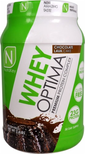NutraKey  Whey Optima   Chocolate Lava Cake Perspective: front