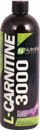 NutraKey  L-Carnitine 3000   Passion Berry Perspective: front
