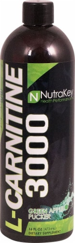 NutraKey  L-Carnitine 3000   Green Apple Pucker Perspective: front