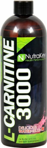 NutraKey  L-Carnitine 3000   Delicious Watermelon Perspective: front