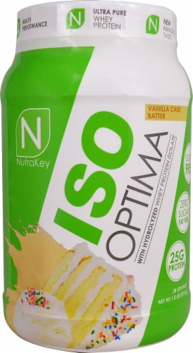 NutraKey  ISO Optima   Vanilla Cake Batter Perspective: front