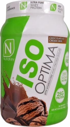 NutraKey  ISO Optima   Chocolate Ice Cream Swirl Perspective: front