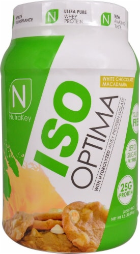 NutraKey  ISO Optima   White Chocolate Macadamia Perspective: front