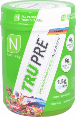 NutraKey TRU Pre Rainbow Precision Formulated Pre-Workout Perspective: front