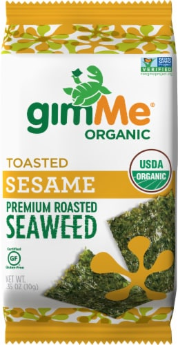 Gimme Organic Sesame Roasted Seaweed Snacks Perspective: front