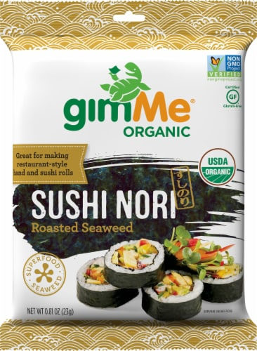 Gimme Organic Sushi Nori Roasted Seaweed Perspective: front