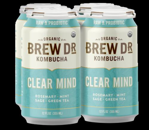 Brew Dr. Kombucha Organic Clear Mind Kombucha Perspective: front