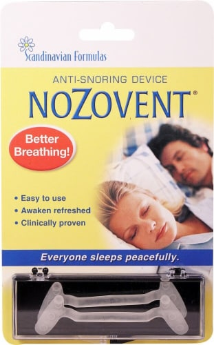 Scandinavian Formulas  Nozovent Anti-Snoring Device Perspective: front
