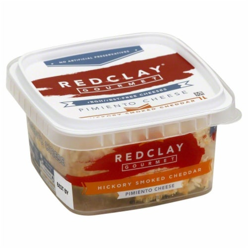 Redclay Gourmet Hickory Smoked Cheddar Cheese Perspective: front