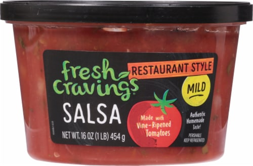 Fresh Cravings Restaurant Style Mild Salsa Perspective: front