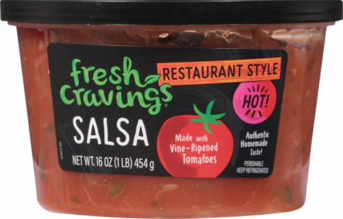 Fresh Cravings Hot Restaurant Style Salsa Perspective: front