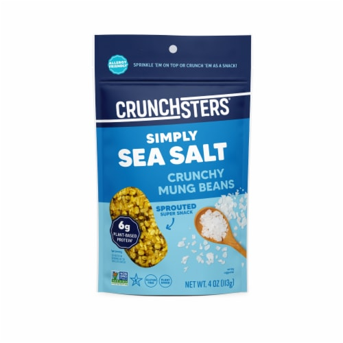 Crunchsters® Gluten Free Sprouted Sea Salt Protein Snacks Perspective: front