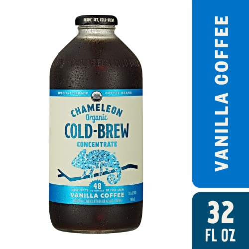 Chameleon Cold-Brew Organic Vanilla Coffee Concentrate Perspective: front